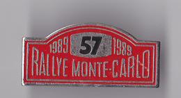 PIN'S THEME RALLYE  MONTE  CARLO 1989 - Rallye