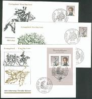 Theodor Körner Bzw. Marken Aus Block BRD Bl. 25 3 FDC - [7] West-Duitsland