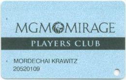 STATI UNITI  KEY CASINO MGM Mirage LAS VEGAS - Casino Cards