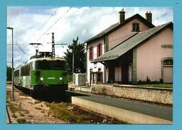 Chemin De Fer 48 Lozere Gare D ' Aumont Aubrac L ' Aubrac Arrive En Gare ( Tirage 50ex ) - Railway