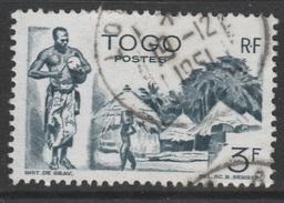 Togo, Village, 3f., 1947, VFU - Togo (1914-1960)