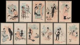 11 CHROMOS Humoristiques - Impr. Testu&Massin Sorisi 26-54 - 106x62 Mm - Chromos