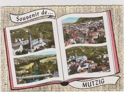Bas  Rhin :  MUTZIG : Vues  église , école , La Porte   Année  60 - Mutzig