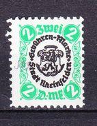 Gebuehrenmarke, Stadt Rheinfelden, Wappen, Loewe, 2 DM (44246) - Matasellos Generales