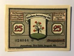 Allemagne Notgeld Annaburg 25 Pfennig - [ 3] 1918-1933 : Weimar Republic