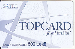 ALBANIA - Satel Prepaid Card 500 Leke, Sample - Albania