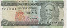 (B0115) BARBADOS, 1975 (ND). 5 Dollars. P-32. VF - Barbados