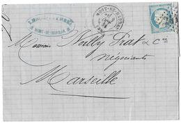 LETTRE Avec  N°60; 71 G1;  1 Er état.  TTB - 1871-1875 Cérès