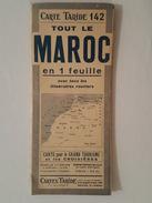 Grande Carte Routière Taride N°142 - Tout Le Maroc - Cartes Routières