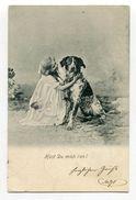 "Frau Und Hund / 1901 / AK ""Hast Du Mich Lieb ?"" (00652) - Hunde"