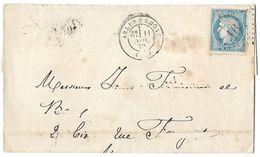 LETTRE Avec  N°60; 2 G1;  .  TTB - 1871-1875 Cérès