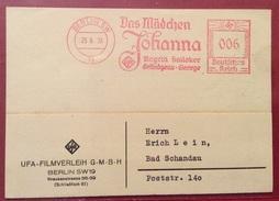 TEMATICA CINEMA  BERLINO 25/6/35 FILM JOANNA  PUBBLICITA' SU SPLENDIDO ANNULLO A TARGHETTA ROSSA - Cycling