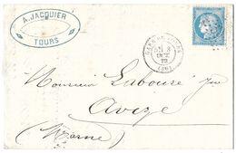 LETTRE Avec  N°60; 13 G1; 3ème état .  TTB - 1871-1875 Cérès