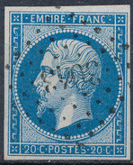 Stamp France Timbre 1853 20c Used Fancy Cancel Numeral Lot#2 - 1853-1860 Napoleon III