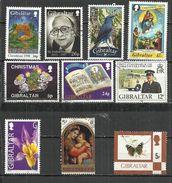 TEN AT A TIME - GIBRALTAR - LOT OF 10 DIFFERENT 1 - USED OBLITERE GESTEMPELT USADO - Gibraltar