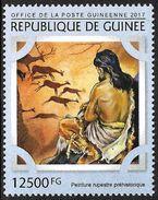 Guinée / Guinea (2017) : Homme Préhistorique Cro Magnon. Peintures Rupestres Du Levant Espagnol Barranco De Valtorta MNH - Prehistoria