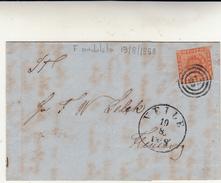 Weile, Cover Con Contenuto 19/08/1858 - 1851-63 (Frederik VII)