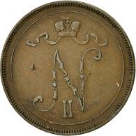 Finlande, Nicholas II, 10 Pennia, 1896, TTB+, Cuivre, KM:14 - Finlande
