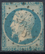 Stamp France Timbre 1853 20c Used Fancy Cancel Numeral Lot#33 - 1853-1860 Napoleon III