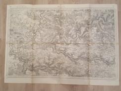 Meaux1916 - Carte Topographique - Levée Par Les Officiers Du Corps D'Etat Major Le Trait Par Thuiller, La Lettre Hacq - Cartes Topographiques