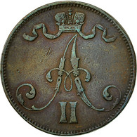 Finlande, Alexander II, 5 Pennia, 1872, TTB, Cuivre, KM:4.2 - Finlande