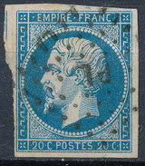 Stamp France Timbre 1853 20c Used Fancy Cancel Numeral Lot#42 - 1853-1860 Napoleon III