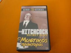 Secret Agent Alfred Hitchcock Old Greek Vhs Cassette From Greece (Daphne Du Maurier) - Horror