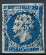 Stamp France Timbre 1853 20c Used Fancy Cancel  Lot#2 - 1853-1860 Napoléon III