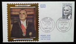FDC 1975 - YT N°1839 - PRESIDENT GEORGES POMPIDOU - PARIS - 1970-1979