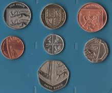 GB SET 7 MONNAIES 1 PENNY - 50 PENCE 2011 - 2012  UNC - Great Britain