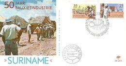 Suriname 1966 Paramaribo Bauxite Minerals FDC Cover - Mineralen