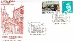 Spanien Sonderumschlag Aus Ciudad Rodrigo - Ruinen, Brunnen, Burg, Kathedrale - Antike Stadt Mirobriga, Archäologie - 1981-90 Cartas