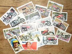 LOT DE  19 CHROMOS   MOTO  TOUS DIFF. / MOTOSPRINT - CANDYGUM - Other Collections
