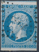 Stamp France Timbre 1853 20c Used Fancy Cancel  Lot#130 - 1853-1860 Napoleon III