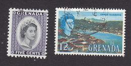 Grenada, Scott #198, 222, Used, Elizabeth II, Scene Of Grenada, Issued 1963-66 - Grenada (...-1974)