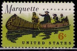 United States, 1968, Father Marquette Exploring Mississippi, 6c, Sc#1356, MNH - Etats-Unis