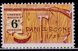 United States, 1968, American Folklore - Daniel Boone, 6c, Sc#1357, MNH - Etats-Unis