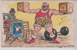 """PUB  ASTRA Par Raoul VION ( Haltérophile ) """".... ça S'enlève Comme Du Beurre, La Margarine ASTRA 3 - Advertising"""