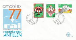 Netherlands Antilles 1977 Bridge Championship Card Games  FDC Cover - Spelletjes