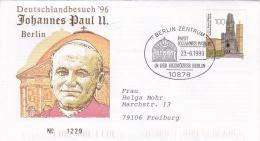 Germany Cover 1996 Pope John Paul II Visiting Berlin  (DD13-18) - Brieven En Documenten