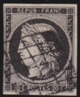 France  .    Yvert   .   3 A    .     O     .    Oblitéré - 1849-1850 Cérès