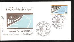 FDC 1973 Nouveau Port De  SKIKDA - Algérie (1962-...)
