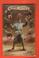 GAN-31  Bonne Année, Militaire, Poilu. Circulé En 1920 - Nouvel An