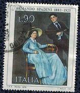 Italie 1975 Oblitéré Used Oeuvre Du Peintre Armando Spadini - 1971-80: Usados