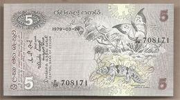 Ceylon - Banconota Non Circolata FdS Da 5 Rupie - 1979 - Sri Lanka