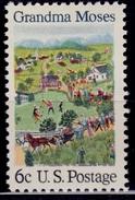 United States, 1970, American Folklore - Grandma Moses, 6c, Sc#1370, MNH - United States