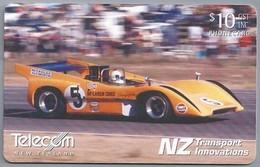 NZ.- TELECOM NEW ZEALAND PHONECARD. $ 10. McLaren Racing Cars.- 2 Scans. - Auto's