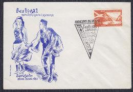 Yugoslavia 1961 Festival Of Folk Games, Commemorative Cover - Briefe U. Dokumente