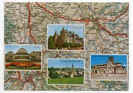 Bourbonnais--Multivues (Vichy,Lapalisse,Chatel-Montagne,Mayet De Montagne) Sur Carte Géographique Nationale 7 - Frankrijk