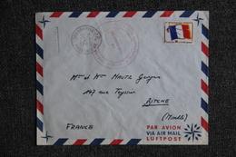Lettre De MADAGASCAR à FRANCE (BITCHE), Timbre Franchise Militaire - Madagascar (1960-...)